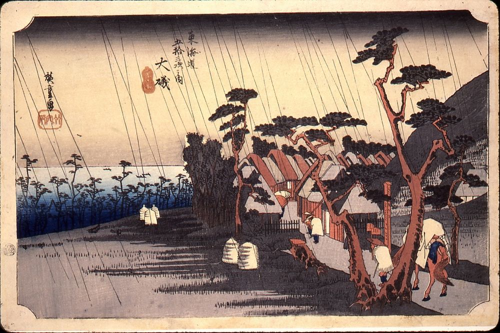 Utagawa%20Hiroshige%2C%20%3Cb%3E%3Ci%3E%20%26%23212%3Biso%3A%20Tora%27s%20Rain%2C%20No.%209%20from%20the%20series%20Fifty-three%20Stations%20of%20the%20T%26%23244%3Bkaid%26%23244%3B%20Road%20%28H%26%23244%3Beid%26%23244%3B%20edition%29%3C%2Fi%3E%3C%2Fb%3E%2C%201833%2F1834%2C%20yoko%20%26%23244%3Bban%20nishiki-e%20%28color%20woodblock%20print%29%2C%20The%20Mary%20Andrews%20Ladd%20Collection%2C%20public%20domain%2C%2032.480