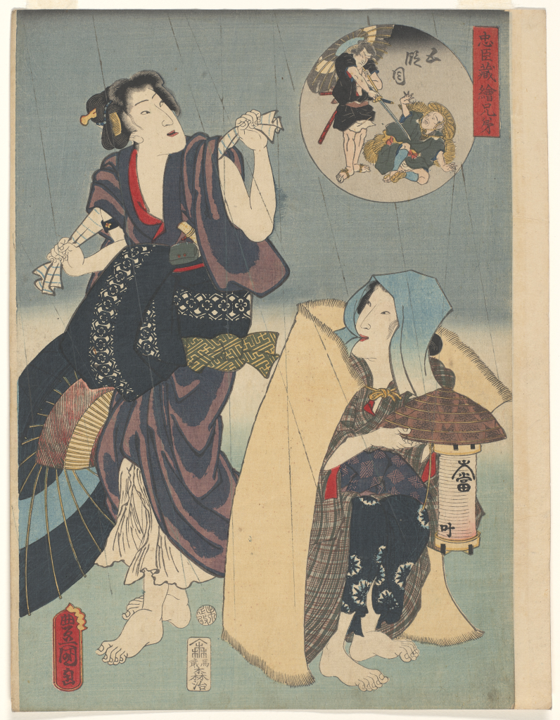 Utagawa%20Kunisada%20as%20Toyokuni%20III%2C%20%3Cb%3E%3Ci%3E%20Act%20V%3A%20The%20Yamazaki%20Highway%2C%20from%20the%20series%20Pictorial%20Siblings%20to%20The%20Treasury%20of%20Loyal%20Retainers%3C%2Fi%3E%3C%2Fb%3E%2C%201859%2C%20%26%23244%3Bban%20nishiki-e%20%28color%20woodblock%20print%29%20with%20embossing%2C%20Gift%20of%20Mrs.%20Eugene%20Rockey%2C%20public%20domain%2C%2077.37.4