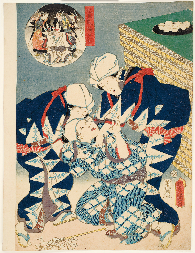 Utagawa%20Kunisada%20as%20Toyokuni%20III%2C%20%3Cb%3E%3Ci%3E%20Act%20XI%3A%20The%20storming%20of%20Moronao%27s%20mansion%2C%20from%20the%20series%20Pictorial%20Siblings%20to%20The%20Treasury%20of%20Loyal%20Retainers%3C%2Fi%3E%3C%2Fb%3E%2C%201859%2C%20%26%23244%3Bban%20nishiki-e%20%28color%20woodblock%20print%29%20with%20embossing%2C%20Gift%20of%20Mrs.%20Eugene%20Rockey%2C%20no%20known%20copyright%20restrictions%2C%2077.37.10