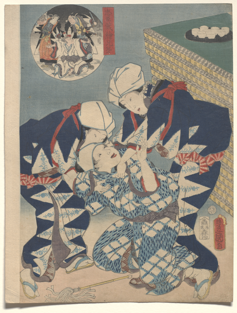 Utagawa%20Kunisada%20as%20Toyokuni%20III%2C%20%3Cb%3E%3Ci%3E%20Act%20XI%3A%20The%20storming%20of%20Moronao%27s%20mansion%2C%20from%20the%20series%20Pictorial%20Siblings%20to%20The%20Treasury%20of%20Loyal%20Retainers%3C%2Fi%3E%3C%2Fb%3E%2C%201859%2C%20%26%23244%3Bban%20nishiki-e%20%28color%20woodblock%20print%29%20with%20embossing%2C%20Gift%20of%20Mrs.%20Eugene%20Rockey%2C%20public%20domain%2C%2077.37.10