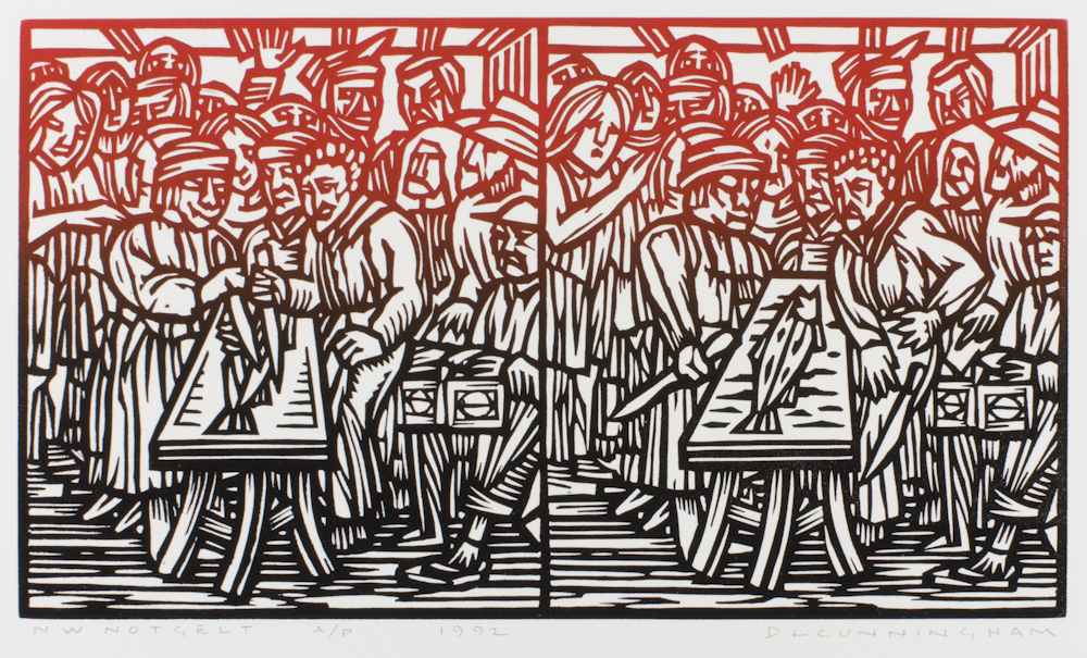 Dennis%20L.%20Cunningham%2C%20%3Cb%3E%3Ci%3E%20NW%20Notgelt%3C%2Fi%3E%3C%2Fb%3E%2C%201992%2C%20linocut%2C%20The%20Vivian%20and%20Gordon%20Gilkey%20Graphic%20Arts%20Collection%2C%20%26%23169%3B%20Courtesy%20of%20the%20artist%20Dennis%20Cunningham%20and%20Froelick%20Gallery%2C%201998.46.315