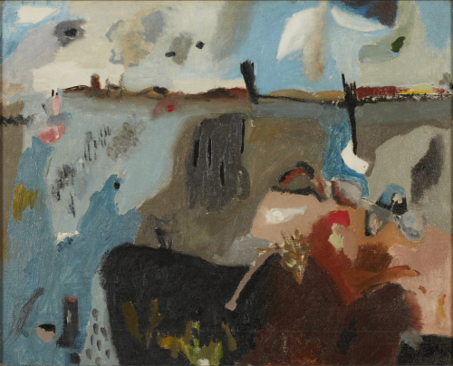 Helen%20Frankenthaler%2C%20%3Cb%3E%3Ci%3E%20Provincetown%20Bay%3C%2Fi%3E%3C%2Fb%3E%2C%201950%2C%20oil%20on%20canvas%2C%20The%20Clement%20Greenberg%20Collection%3B%20Museum%20Purchase%3A%20Funds%20provided%20by%20Tom%20and%20Gretchen%20Holce%2C%20%26%23169%3B%20artist%20or%20other%20rights%20holder%2C%202001.1.43