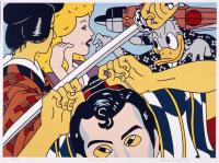 Roger%20Shimomura%2C%20%3Cb%3E%3Ci%3E%20Kabuki%20Play%3C%2Fi%3E%3C%2Fb%3E%2C%201985%2C%20color%20lithograph%20on%20paper%2C%20Museum%20Purchase%3A%20Jean%20Y.%20Roth%20Memorial%20Fund%2C%20with%20additional%20funds%20provided%20by%20Pamela%20Berg%2C%20%26%23169%3B%20artist%20or%20other%20rights%20holder%2C%202006.67.2