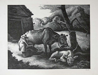 Thomas%20Hart%20Benton%2C%20%3Cb%3E%3Ci%3E%20White%20Calf%3C%2Fi%3E%3C%2Fb%3E%2C%201945%2C%20lithograph%20on%20cream%20wove%20paper%2C%20The%20Carol%20and%20Seymour%20Haber%20Collection%2C%20%26%23169%3B%20artist%20or%20other%20rights%20holder%2C%202008.68.3